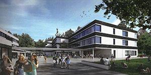 Entwurf des Neubau der Alexander von Humboldt Schule